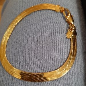 Juicy Couture gold plated herringbone bracelet
